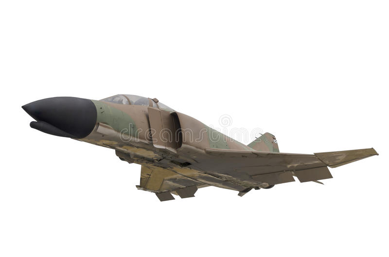 Military jet isolated stock photography