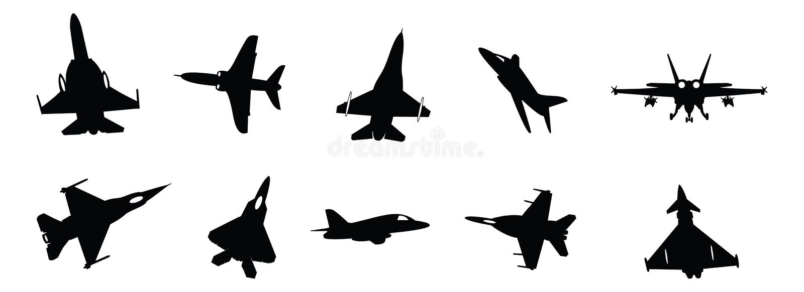 Download Military jets stock vector. Image of tactical, airplanes - 18734078