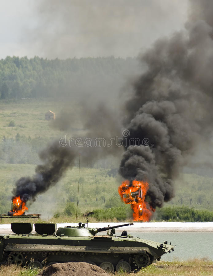 Download Military landscape stock photo. Image of explosion, conflict - 10119696