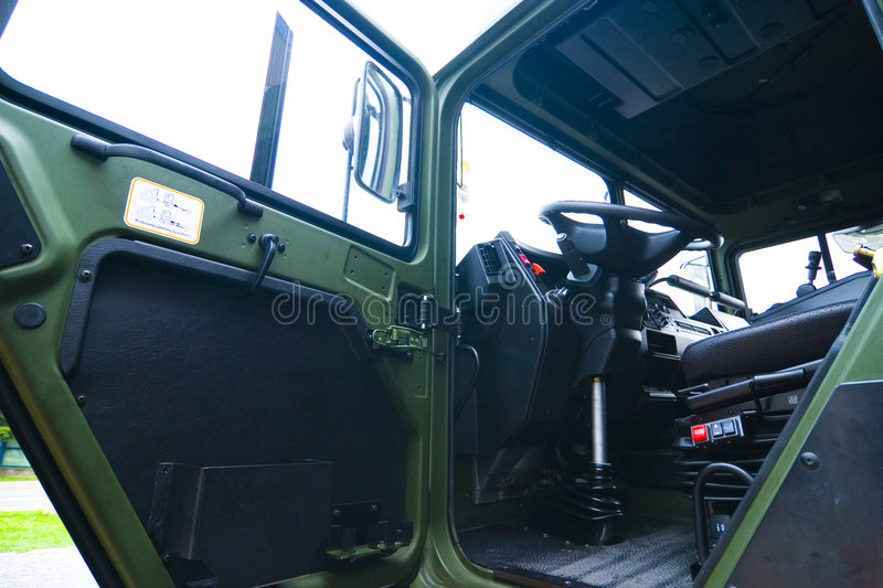 Military lorry driver cabin