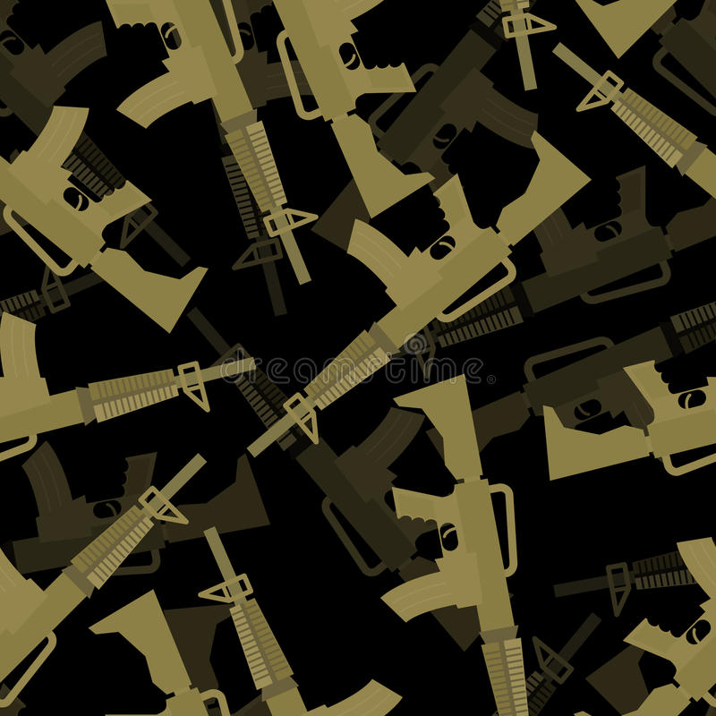 Military M16 rifle seamless pattern. 3d background royalty free illustration