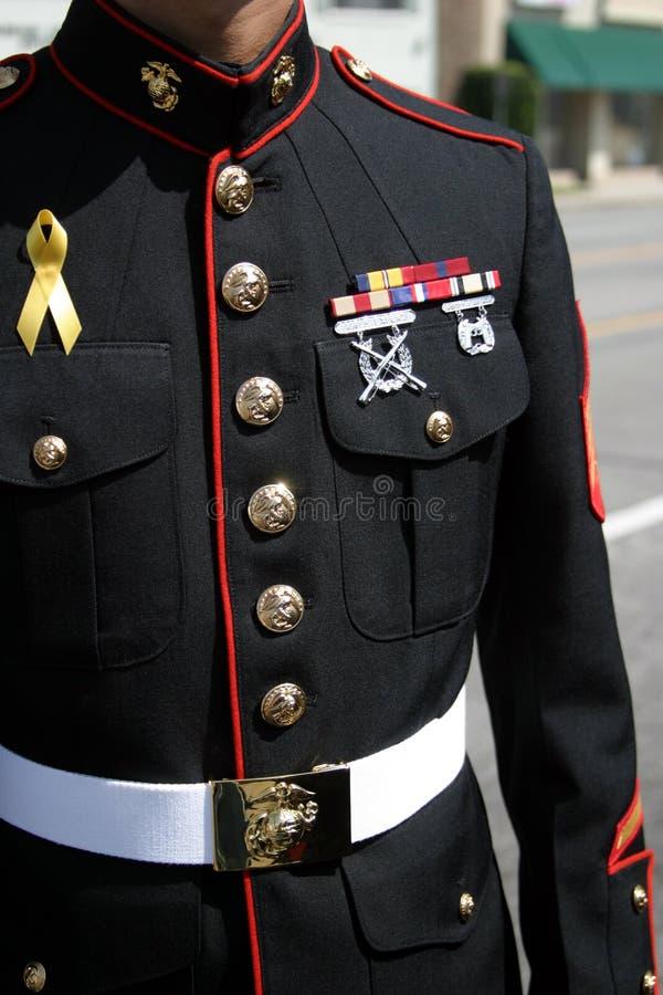 Military man. Salutes Those who serve royalty free stock photos