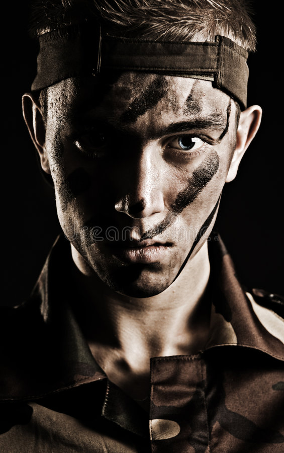 Military man stock image