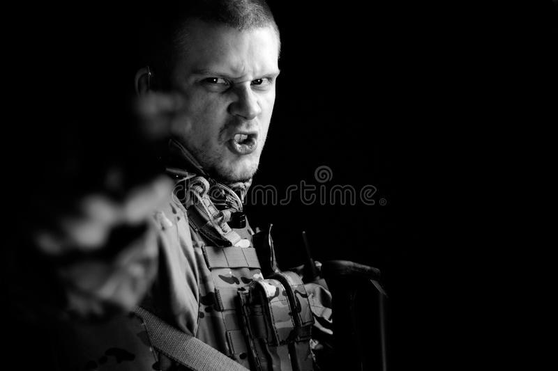 Military man stock photos