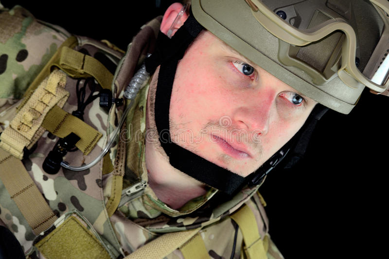 Military man stock photography