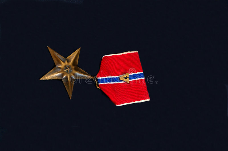 Military medal stock photo