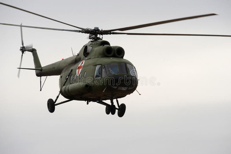 Military Medical Helicopter Stock Photo