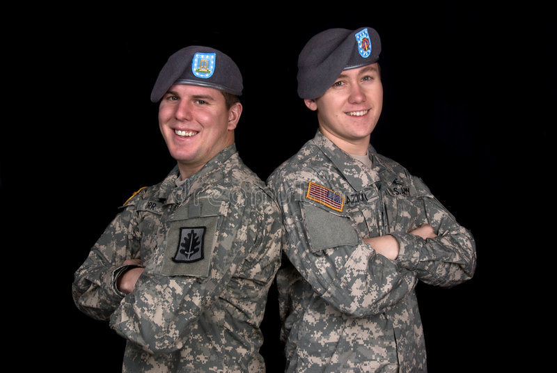 Military Men royalty free stock images