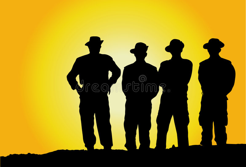 Military Mens ! Stock Image