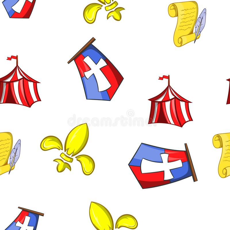 Military middle ages pattern, cartoon style. Military middle ages pattern. Cartoon illustration of military middle ages pattern for web vector illustration