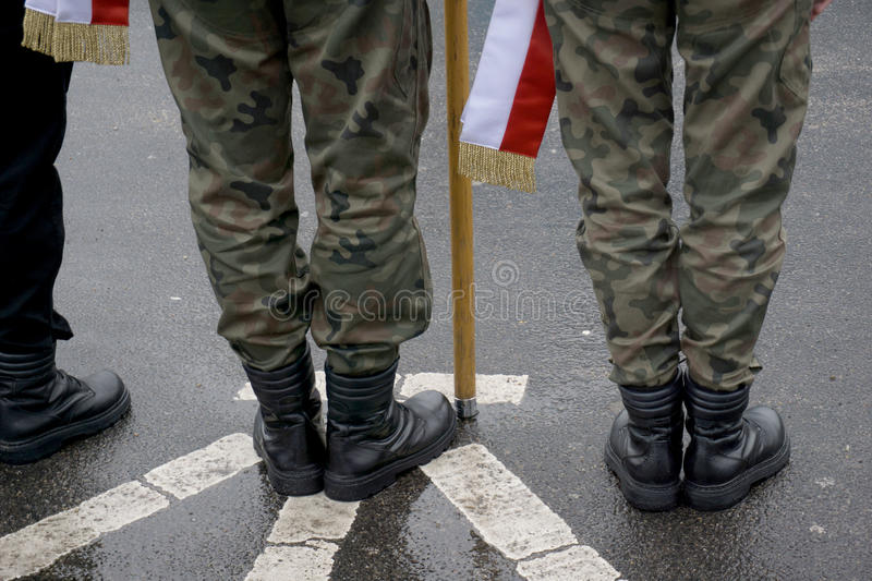 Military muster stock image