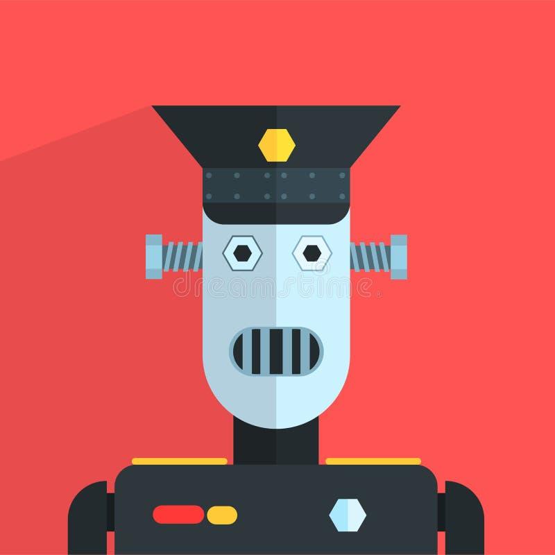 Military Officer Robot Character stock illustration