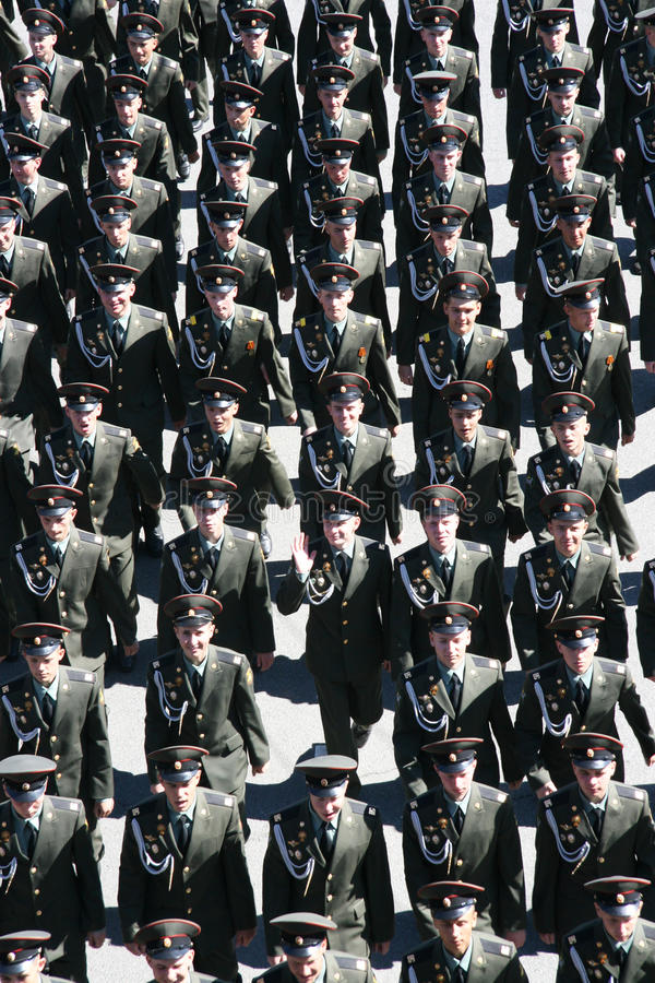 Free Military Officers Of The Russian Army Marching Royalty Free Stock Images - 31057049