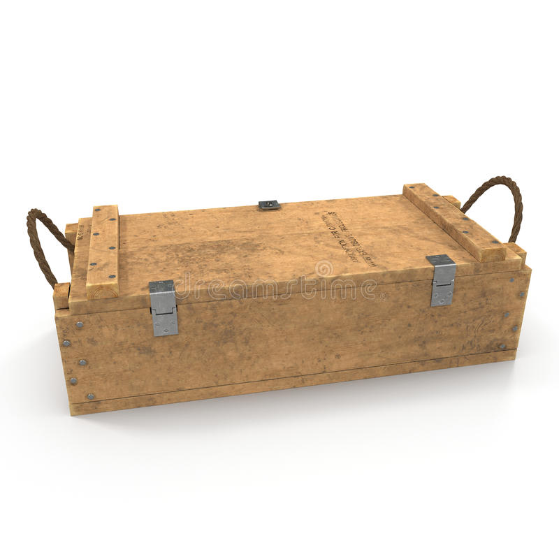Free Military Old Case Box On White. 3D Illustration Stock Image - 82567871