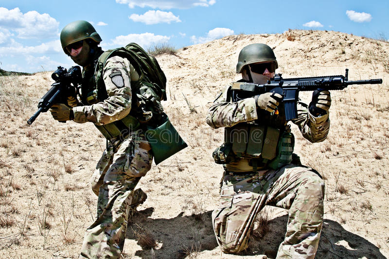 Military operation stock photo