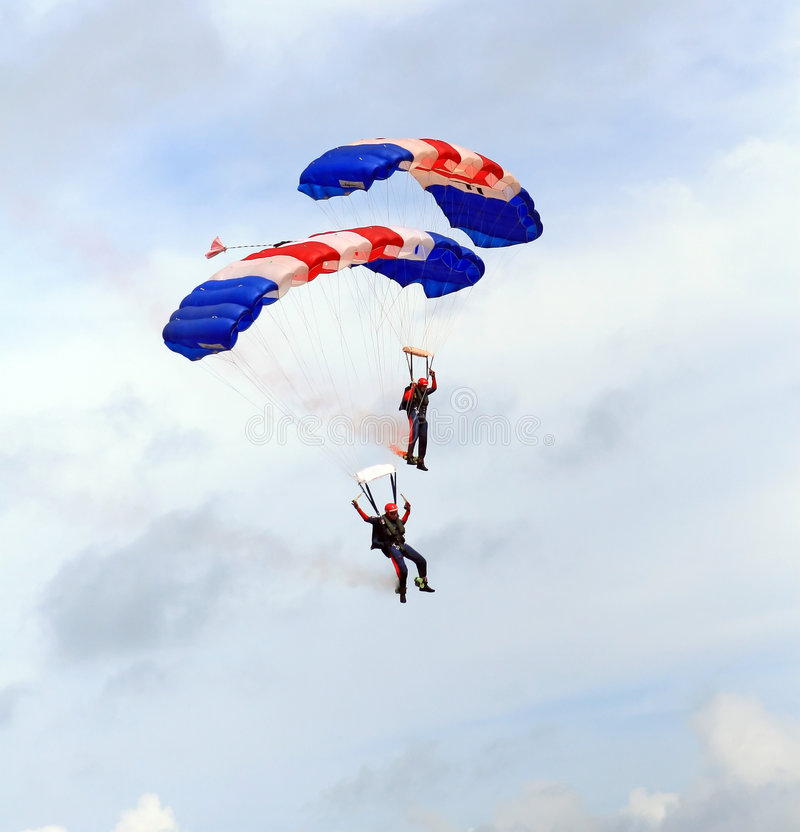 Download Military Parachute Jump Celebration Stock Image - Image of flight, cloud: 1118439