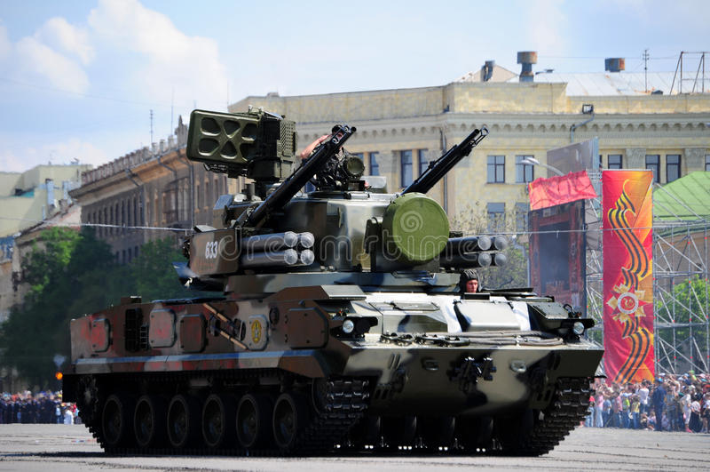 Military parade royalty free stock image