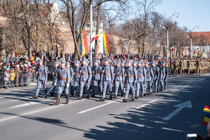 Military Parade on National Day of Romania stock images