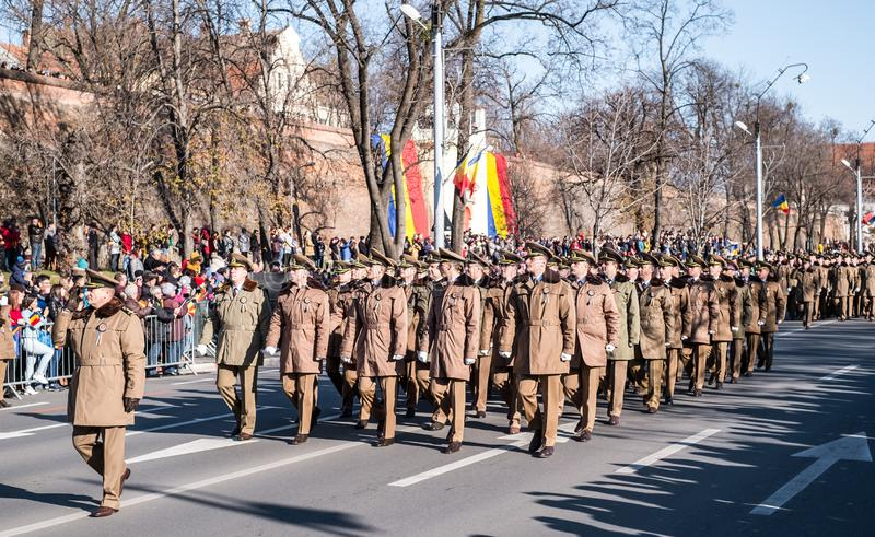 Military Parade on National Day of Romania royalty free stock photography