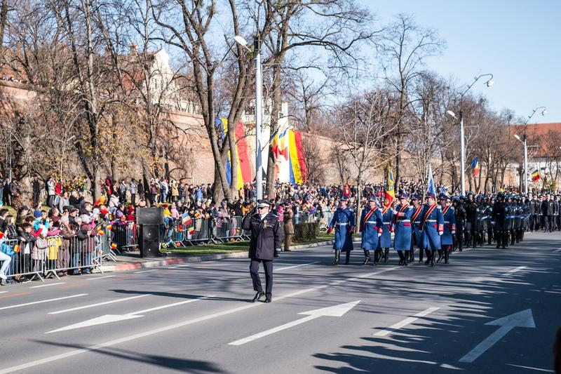 Military Parade on National Day of Romania stock image