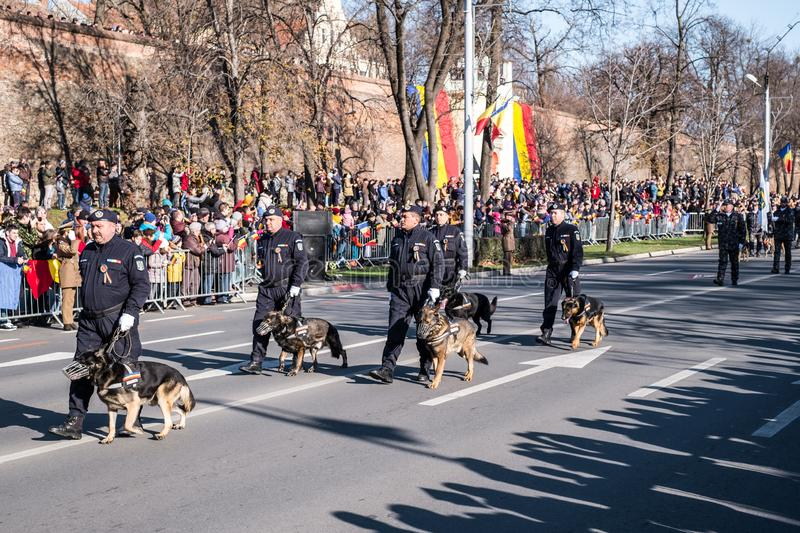 Military Parade on National Day of Romania royalty free stock images