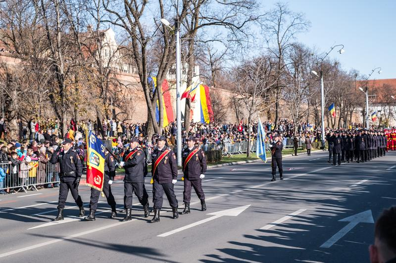 Military Parade on National Day of Romania royalty free stock photos