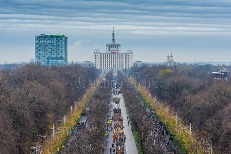 Romanian military parade stock photos