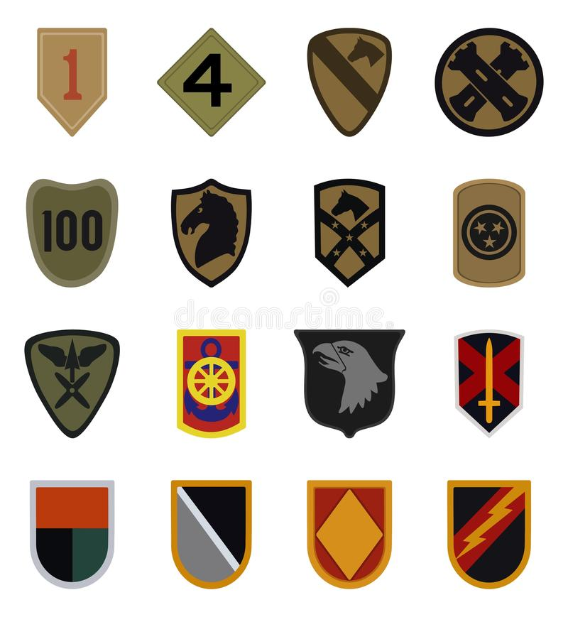 Military patches vector vector illustration