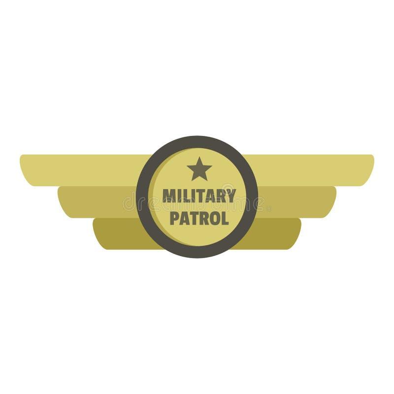 Military patrol icon logo, flat style stock illustration
