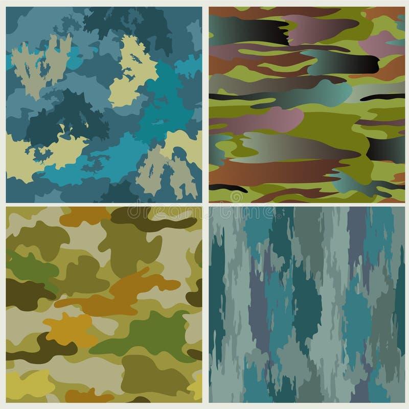 Military patterns stock illustration