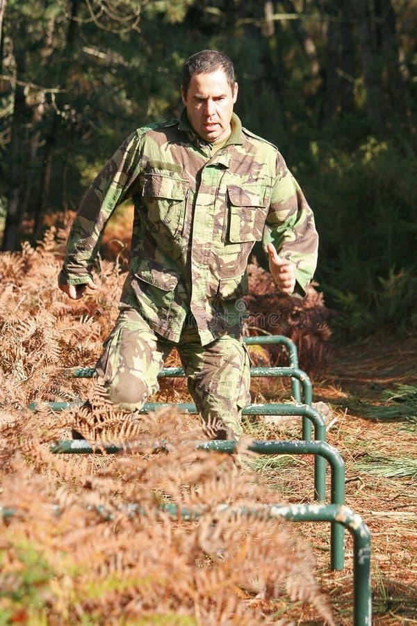 Military physical training stock image