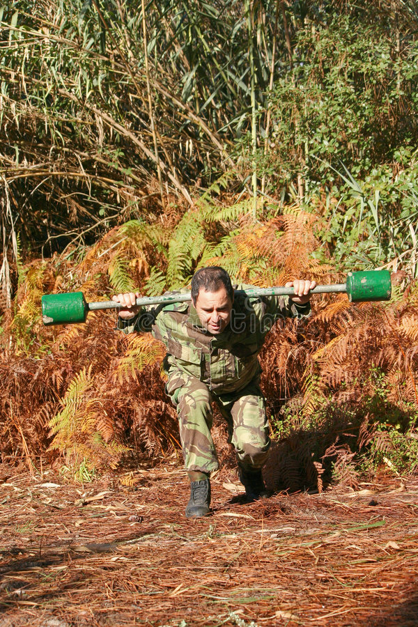 Military physical training royalty free stock images