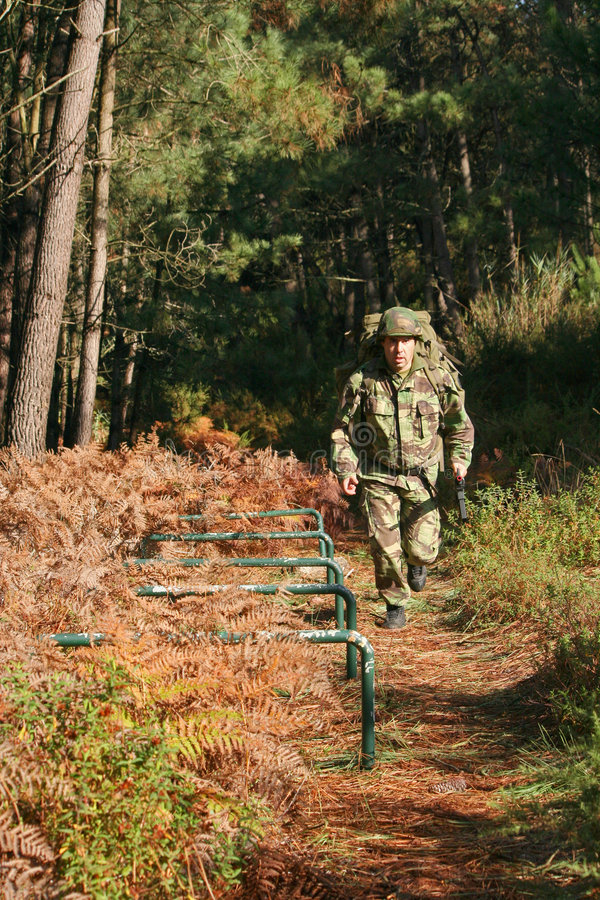 Military physical training stock photography
