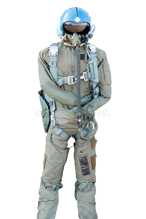 Military pilot flight suit royalty free stock image