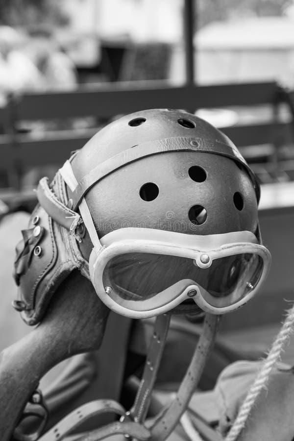 Military pilot helmet. Military Helmet pilot of World War II stock images