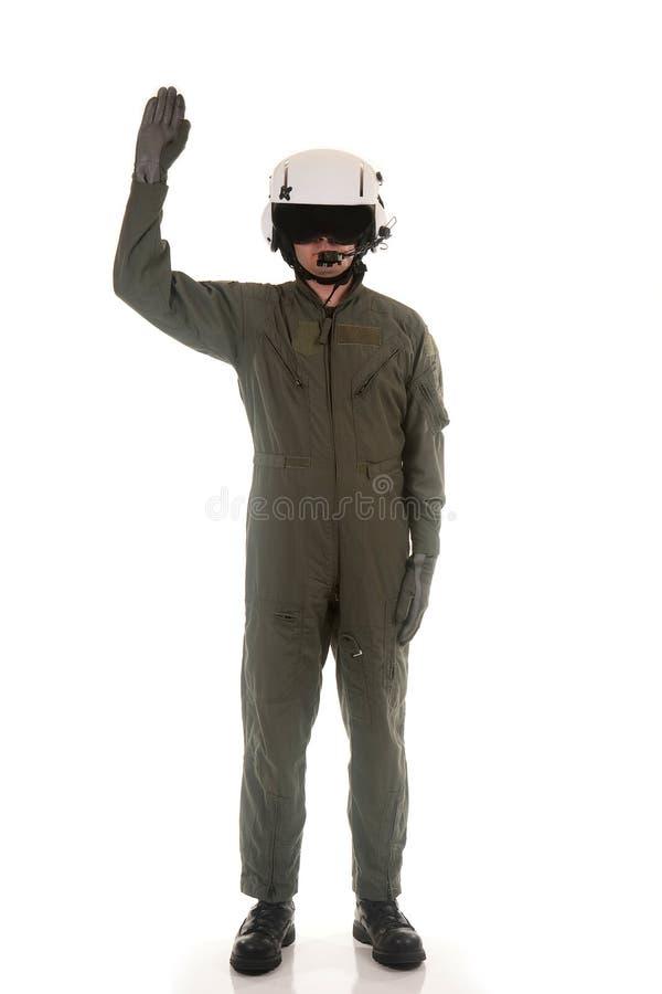 Download Military Pilot Marshaling Aircraft Stock Image - Image: 15061803