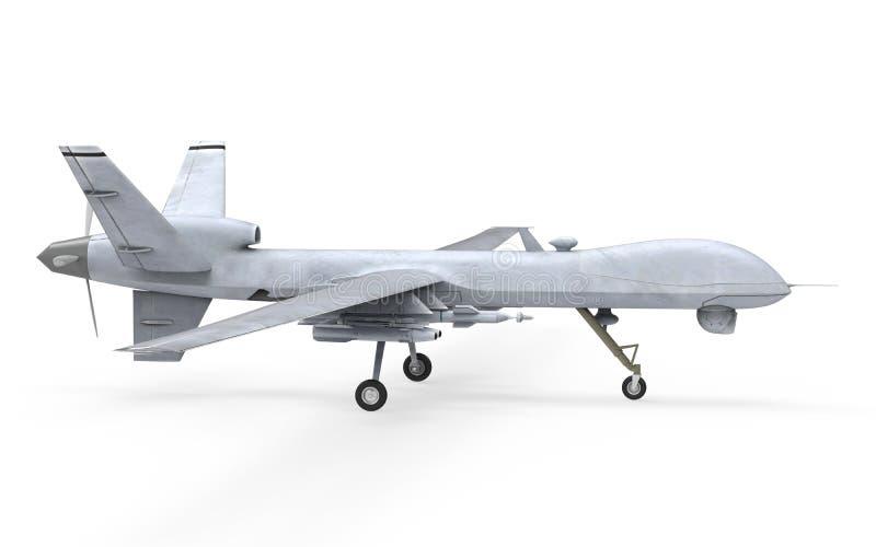 Military Predator Drone. On white background. 3D Render