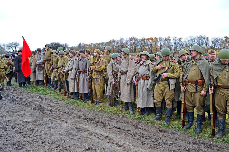 Download Military Reconstruction Devoted To Free Kiev. Editorial Photo - Image: 27502906