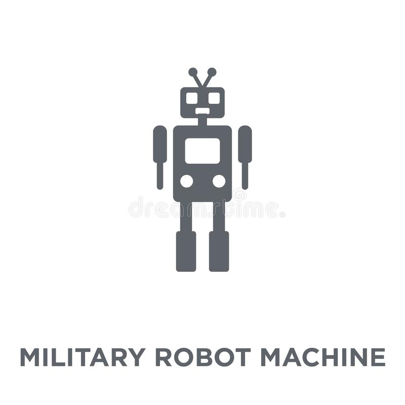 Military robot machine icon from Army collection. stock illustration