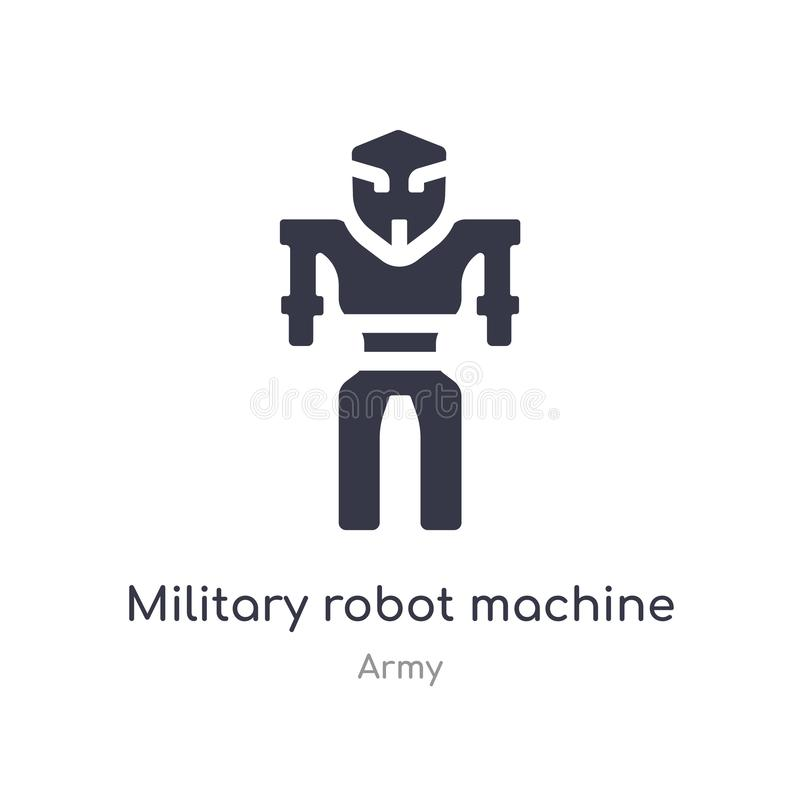 military robot machine icon. isolated military robot machine icon vector illustration from army collection. editable sing symbol stock illustration