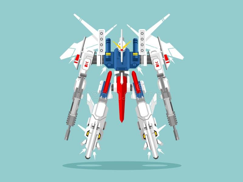 Military robot transformer royalty free illustration