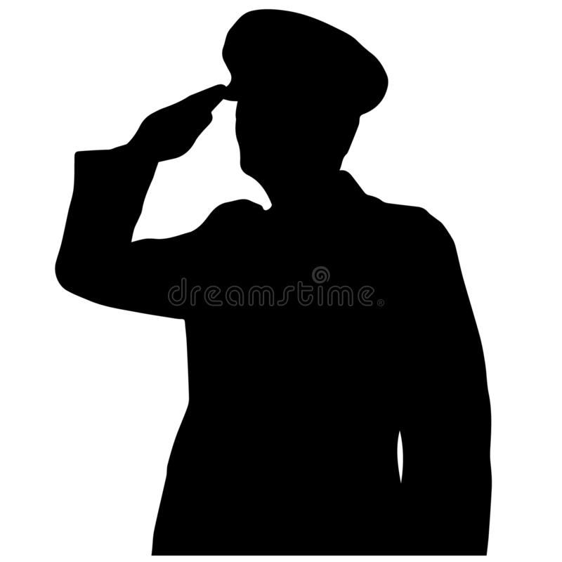 Military salute vector illustration by crafteroks. Military salute Vector, Eps, Logo, Icon, Silhouette, Illustration by crafteroks for different uses stock illustration