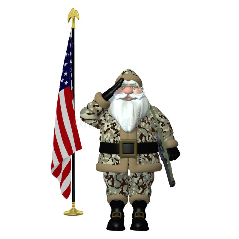 Free Military Santa Stock Photo - 24650160