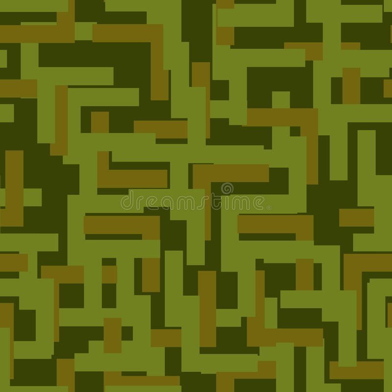 Military seamless pattern. Army abstract texture. camouflage ornament for soldiers. Green soldiery background. war khaki for hunt royalty free illustration