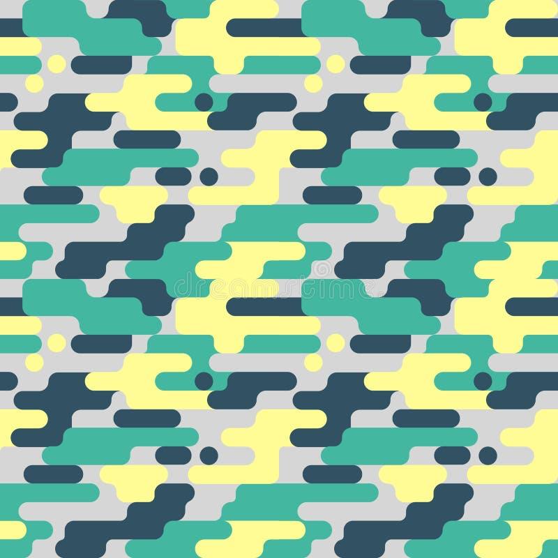 Military Seamless Pattern. Camouflage Background. Camo Fashion Texture. Army Uniform stock illustration