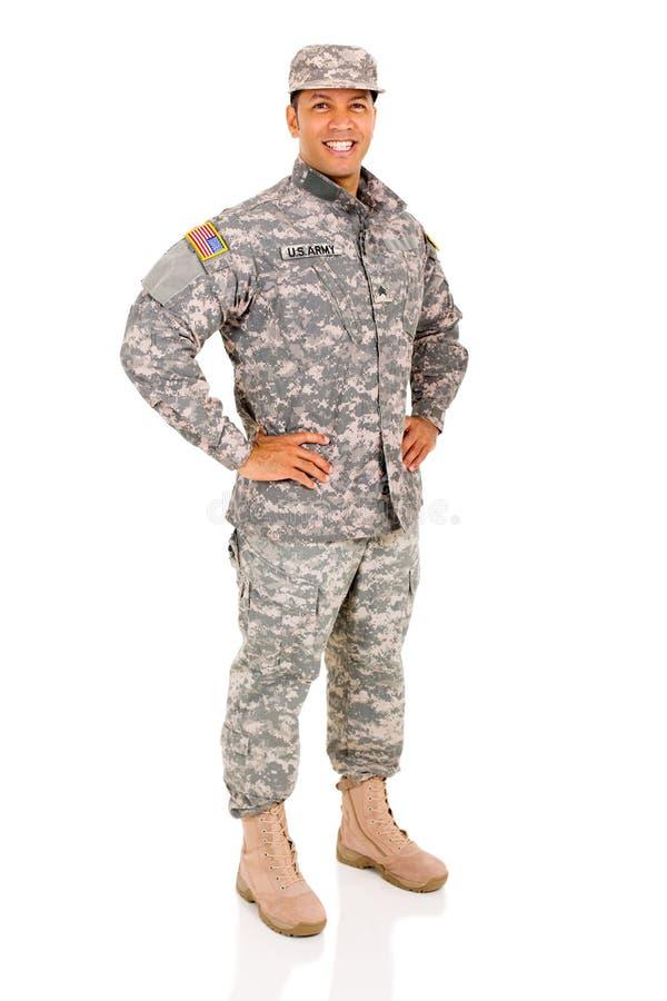 Military serviceman posing royalty free stock photo