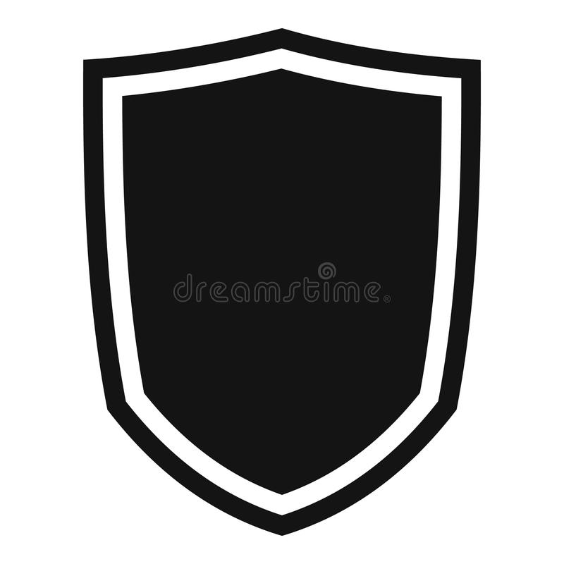 military shield icon simple style stock vector illustration of rh dreamstime com shield vector png shield vector art free