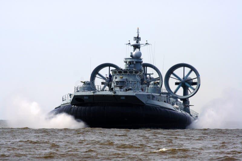 Military ship stock photo