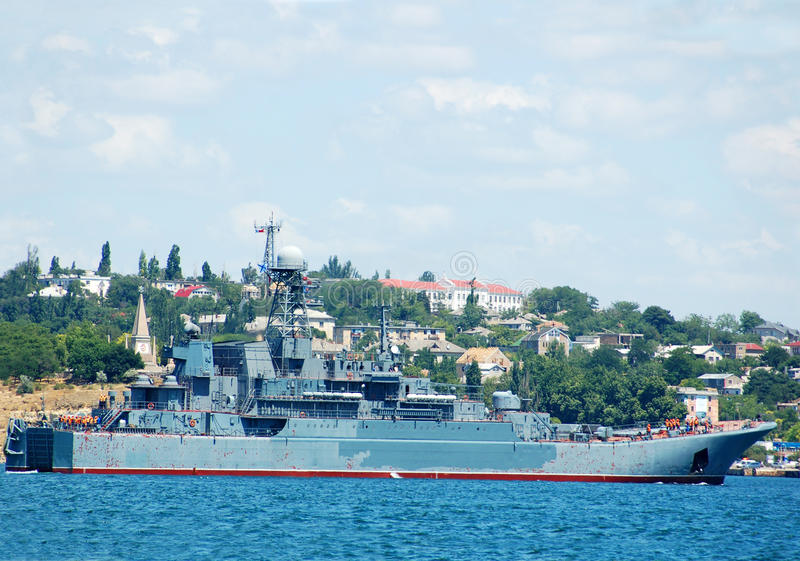 Military ship royalty free stock image