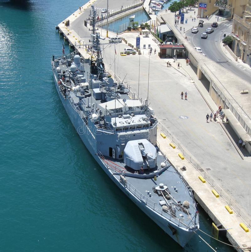 Military ship royalty free stock images